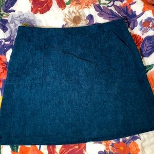 SHEIN Blue Corduroy Mini Skirt